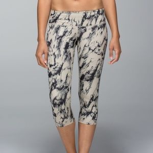 Lululemon Wunder Under Crop Great Granite Black